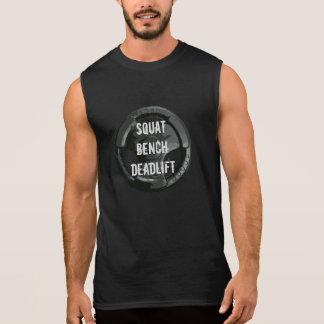 T-shirt accroupi de Deadlift de banc