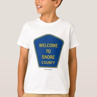 T-shirt Accueil à ronfler comté (signes)