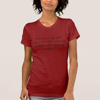 T-shirt Accueil au côté en noir… Êtes vous avez étonné W…