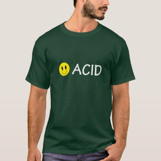 T-shirt acide de smiley de techno