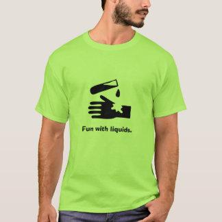 T-shirt Acide en main, amusement avec des liquides