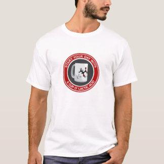 T-shirt Acide lactique d'o de tasse (coton T)