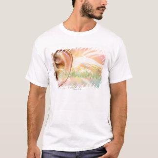 T-shirt Acouphène, illustration conceptuelle d'ordinateur