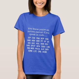 T-shirt Acronymes drôles de parent d'autisme