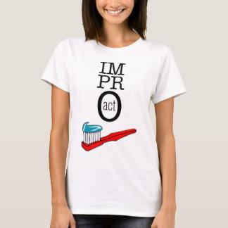T-shirt ACTE d'Impro - brosse à dents