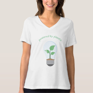 T-shirt actionné par des plantes