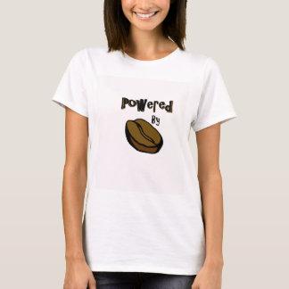 T-shirt Actionné par la pièce en t de dames de café
