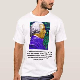 """T-shirt Adam Smith, """"il n'est pas du benevolen…, """"…"""
