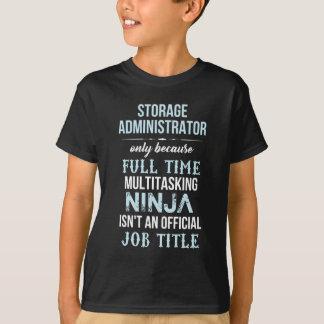 T-shirt Administrateur de stockage