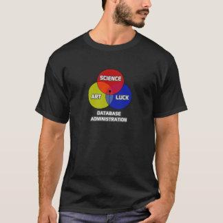 T-shirt Administration de base de données. Chance d'art de