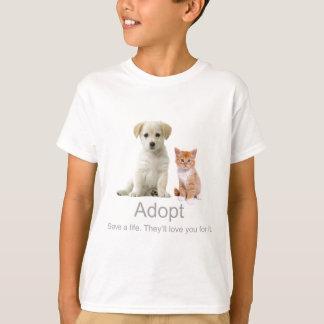 T-shirt adoptez un animal familier