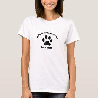 T-shirt Adoptez un animal familier sans abri