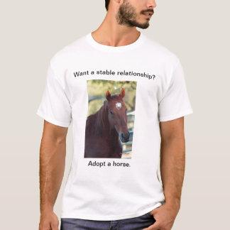 T-shirt Adoptez un cheval
