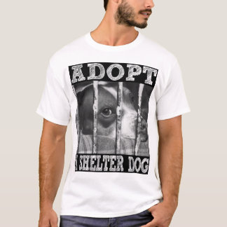 T-shirt ADOPTEZ un chien d'abri