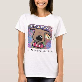 T-shirt Adoptez un chien d'abri, aimez un chien