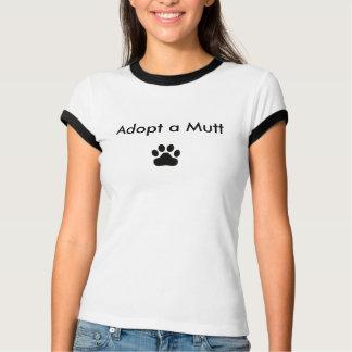 T-shirt Adoptez un chien w/Paw- customisé