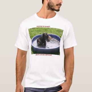 T-shirt Adoptez un lévrier retiré