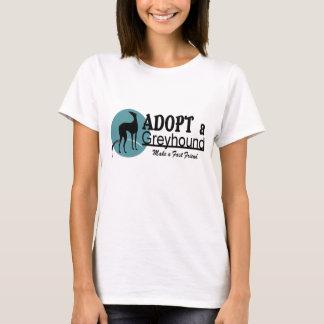 T-shirt Adoptez un logo de chien de lévrier