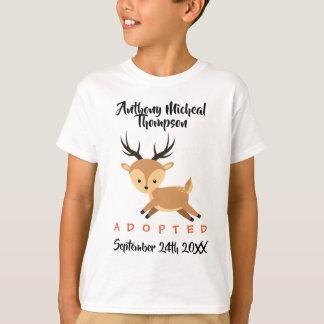 T-shirt Adoption adoptée de région boisée de cerfs communs