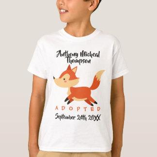 T-shirt Adoption adoptée de région boisée de Fox - chemise