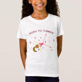 T-shirt adorable de gymnastique de filles