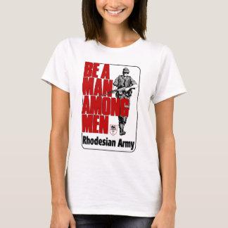 T-shirt Affiche d'armée de Rhodesian