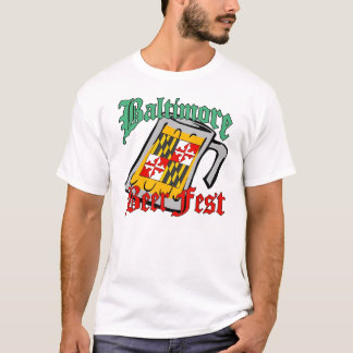 T-shirt Affiche de Fest de bière de Baltimore