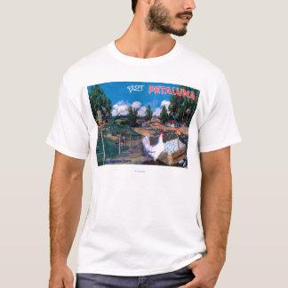 T-shirt Affiche de panier des oeufs du monde