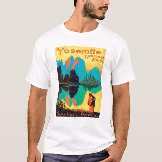 T-shirt Affiche de touristes - parc national de Yosemite,