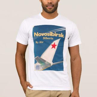 T-shirt Affiche de vol de Novosibirsk Sibérie Union