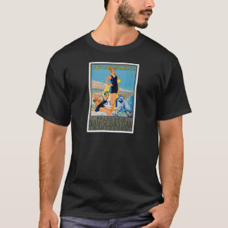 T-shirt Affiche espagnole de station de vacances