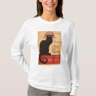 T-shirt Affiche Noir de promo de chat noir de troupe de