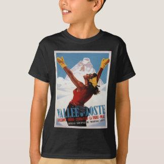 T-shirt Affiche vintage de ski