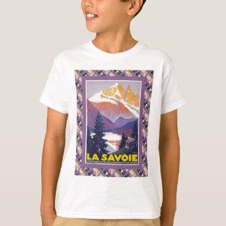 T-shirt Affiche vintage de ski, France, La la Savoie,