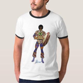 T-shirt africa super hero noir