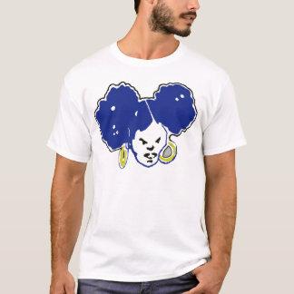 T-shirt afropuffs de bule et d'or