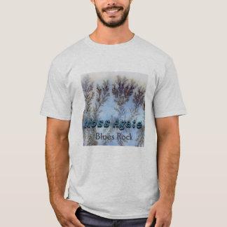 T-shirt Agate de mousse - chemise de roche de bleus