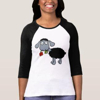 T-shirt Agneau de moutons noirs avec le blanc gris de