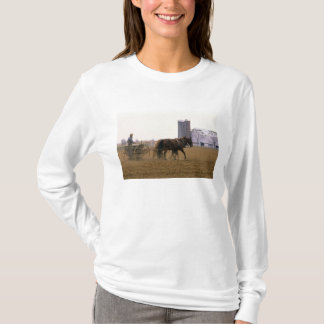 T-shirt Agriculteur amish employant un planteur