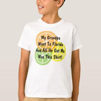 T-shirt Agrume d'été - le grand-papa est allé à la Floride