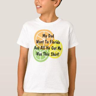 T-shirt Agrume d'été - le papa est allé à la Floride -
