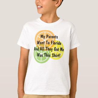 T-shirt Agrume d'été - les parents est allé à la Floride -