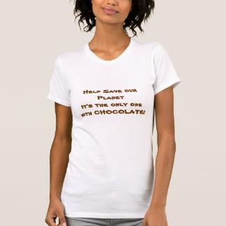 T-shirt Aide sauver notre planète il est le seul 1 avec du