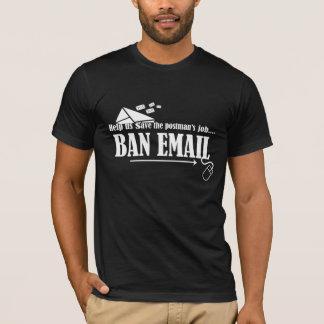T-shirt Aidez-nous à sauver la chemise d'email