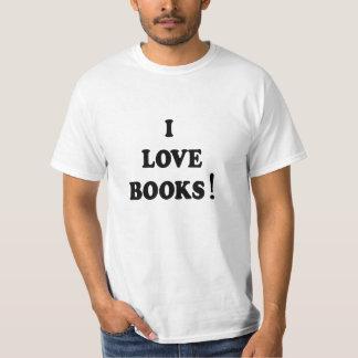 """T-shirt aime livres de livres noirs """"je"""""""