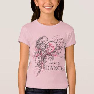 T-shirt Aimez danser le bébé de filles - la poupée T