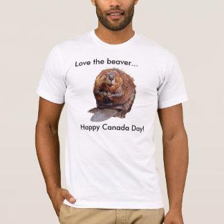 T-shirt Aimez le castor…, jour heureux du Canada !