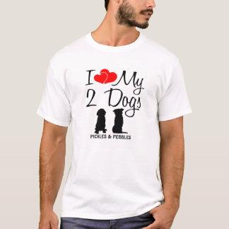 T-shirt Aimez mes DEUX chiens