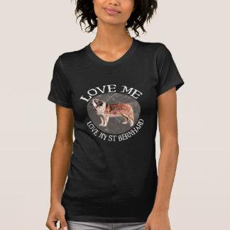 T-shirt Aimez-moi, aimez mon St Bernard