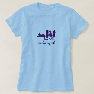 T-shirt Aimez-moi amour mon chat ! Bébé de dames - pièce